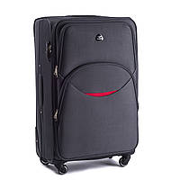 Средний тканевый чемодан Wings 1708 на 4 колесах серый, фото 1