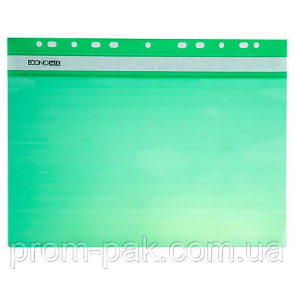 Горизонтальный скоросшиватель для файлов с перфорацией  Buromax цвет:зеленый, фото 2