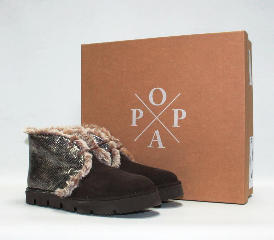 Женские зимние ботинки POPA оригинал Италия натуральная замша мех 41