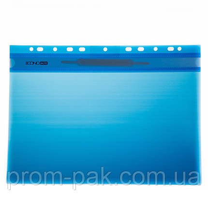 Скоросшиватель пластиковый с перфорацией  Buromax цвет: синий, фото 2