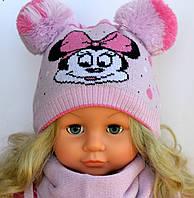 Шапка для девочки Микки Маус сирень Арктик 002 (р.40-44)