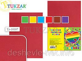 Набор цветной пористой резины 6 листов, 6 цветов, А4 Tukzar