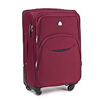 Малый тканевый чемодан Wings 1708 на 4 колесах бордовый