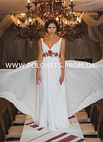 Платье свадебное, с вышивкою маками