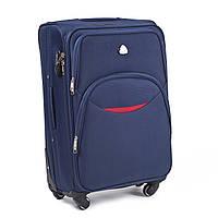Малый тканевый чемодан Wings 1708 на 4 колесах синий