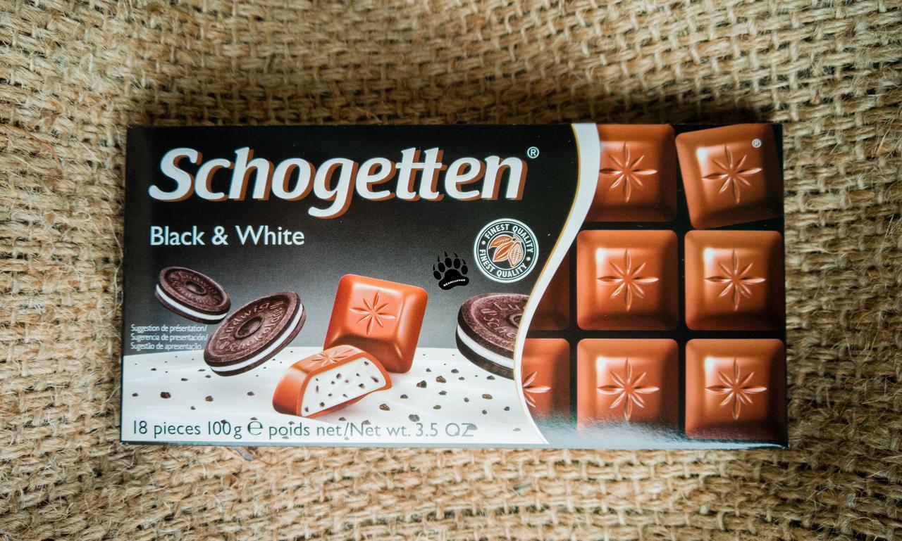 Шоколад Schogetten Black & White 100 gramm