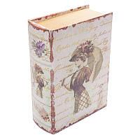 Книга-сейф BST 490159 22×16×7 см разноцветная Девушка с зонтом
