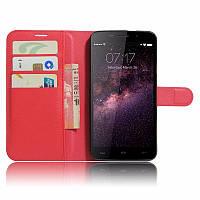 Чехол-книжка Litchie Wallet для HomTom HT17 / HT17 Pro Красный