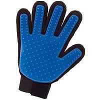 Гребінець-рукавичка для вичісування шерсті, гумова, 16 × 24 см