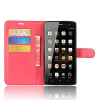Чехол-книжка Litchie Wallet для HomTom HT7 / HT7 Pro Красный