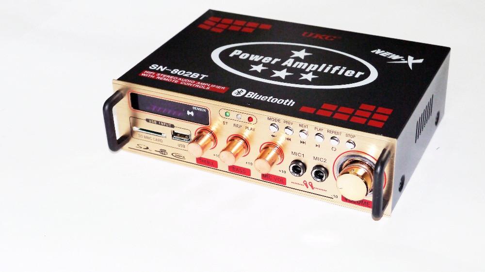 Усилитель мощности двухканальный UKC AMP-802BT