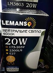 Светодиодная лампа Lemanso LM3003E27 20W 4000К (белый нейтральный)