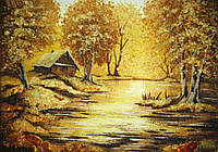 Картина из янтаря. Пейзаж 31