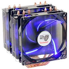 """Система охлаждения Aardwolf EX120 6 тепловых трубок 2х120мм вентелятора """"Over-Stock"""""""