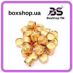 Коробочка для кольца Круг золото 5*5*3,5 см
