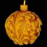 """Новогодняя восковая свеча """"Ёлочная игрушка"""" из натурального пчелиного воска, фото 3"""