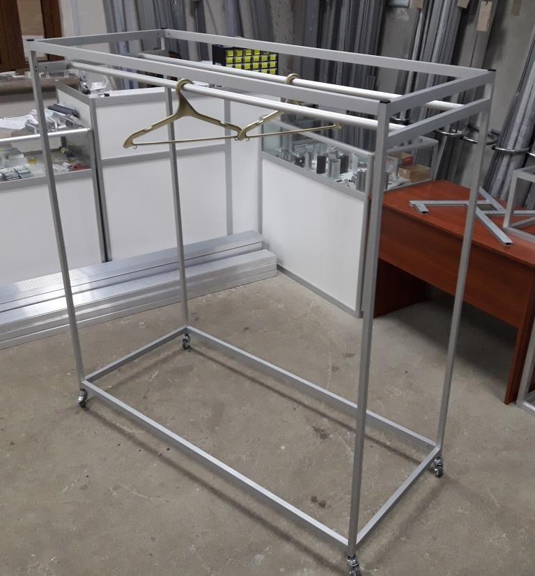 Стенд - вешалка под плечики / тремпель | Стойка передвижная для магазина или салона