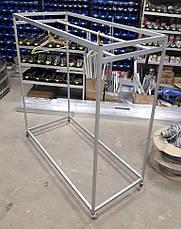 Стенд - вешалка под плечики / тремпель | Стойка передвижная для магазина или салона, фото 3