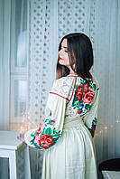 Вышитое платье с стиле бохо с кружевами