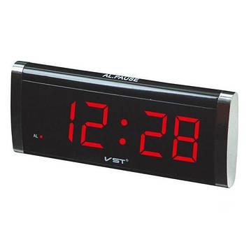 Электронные сетевые часы VST 730-1,красные