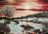 Картина из янтаря. Пейзаж 34