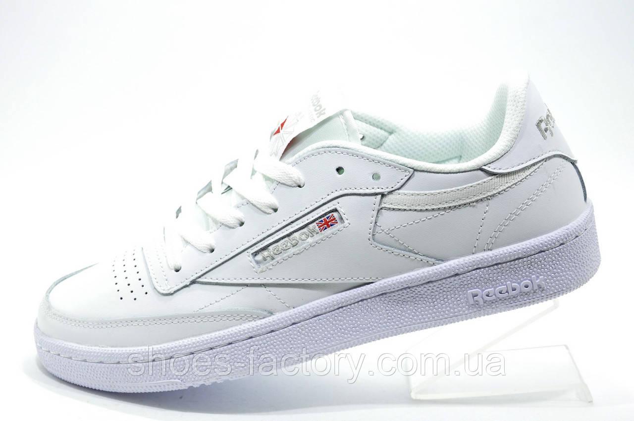 Кроссовки женские в стиле Reebok Club C 85 Leather, White\Белые