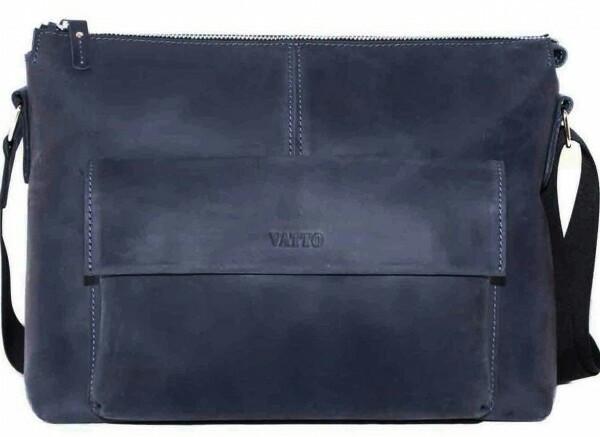 Чоловіча сумка VATTO MK20.1 KR600, шкіряна, синя