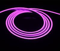 Светодиодный гибкий неон розовый 2835 120 led/m 12w ip65 220v