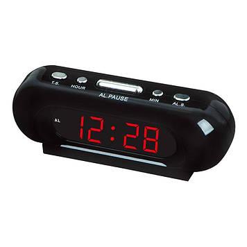 Часы Vst 716-1, красные LED