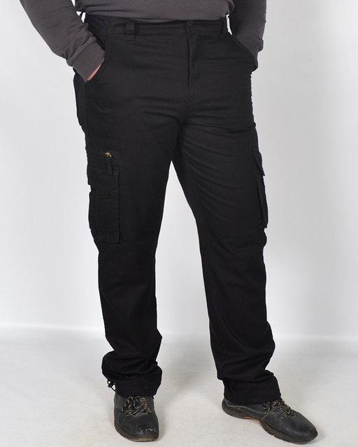 Мужские штаны тактические LOSHAN Черные утепленные на флисе
