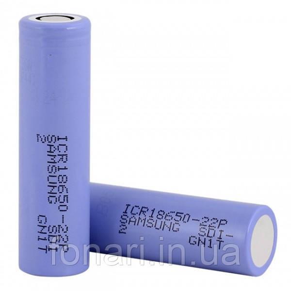 Аккумулятор Samsung ICR18650-22P Li-Ion 2200 mAh (без платы защиты)