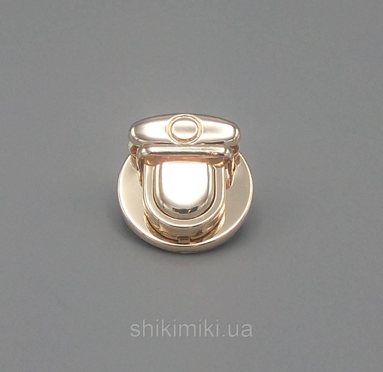 Замок круглый портфельный ZМ15-3, цвет золото