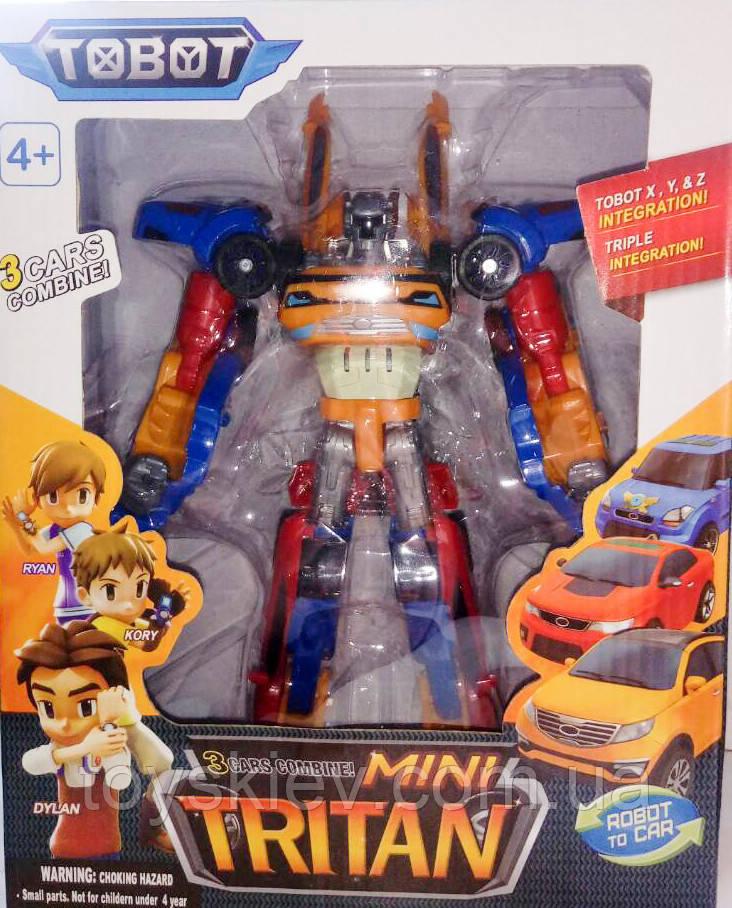 Трансформер Тобот Тритан Мини 20 см 3 в 1, tobot tritan mini, три машины собираются в тобота тритана