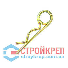 Шплинт пружинный DIN 11024, цинк желтый, d 4