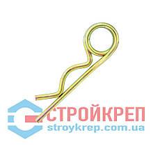 Шплинт пружинный DIN 11024, цинк желтый, d 6