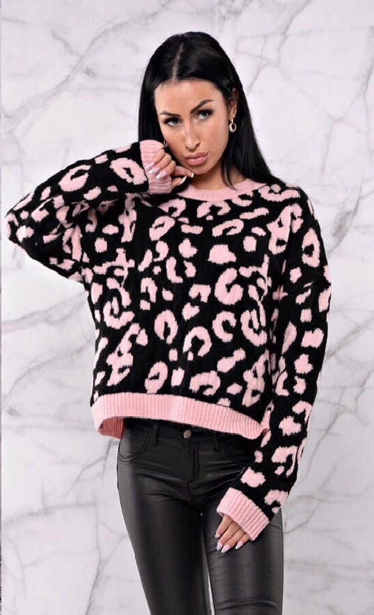 Полушерстяной джемпер на зиму розового цвета 42-46 р, женские полушерстяные джемпера оптом