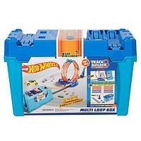 Трек Хот Вилс Двойная петля ящик для трюков Hot Wheels Track Builder Multi Loop Box FLK90