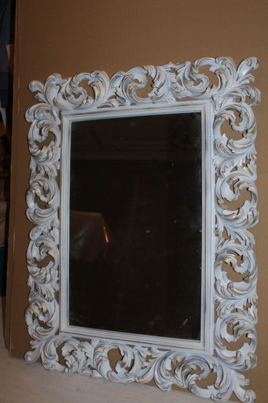 Зеркало в белой раме Ti Amo «white vintage»