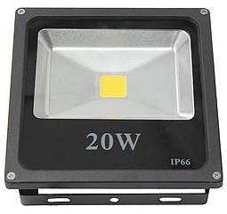 Светодиодный LED прожектор Kronos LAMP влагозащищенный IP66 20W Черный par0208023, КОД: 225383
