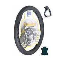 Чехол руля B 402 L (39-41) черный/БО/кожа - Чехол на рулевое колесо универсальный