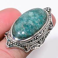 """Яркое кольцо с амазонитом """"Голубая дымка"""" , размер 18.2 от Студии  www.LadyStyle.Biz, фото 1"""