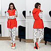 Шикарный набор для дома 4-ка - пижама, жилетка и балетки 1(42-46), 2 (46-48), фото 2