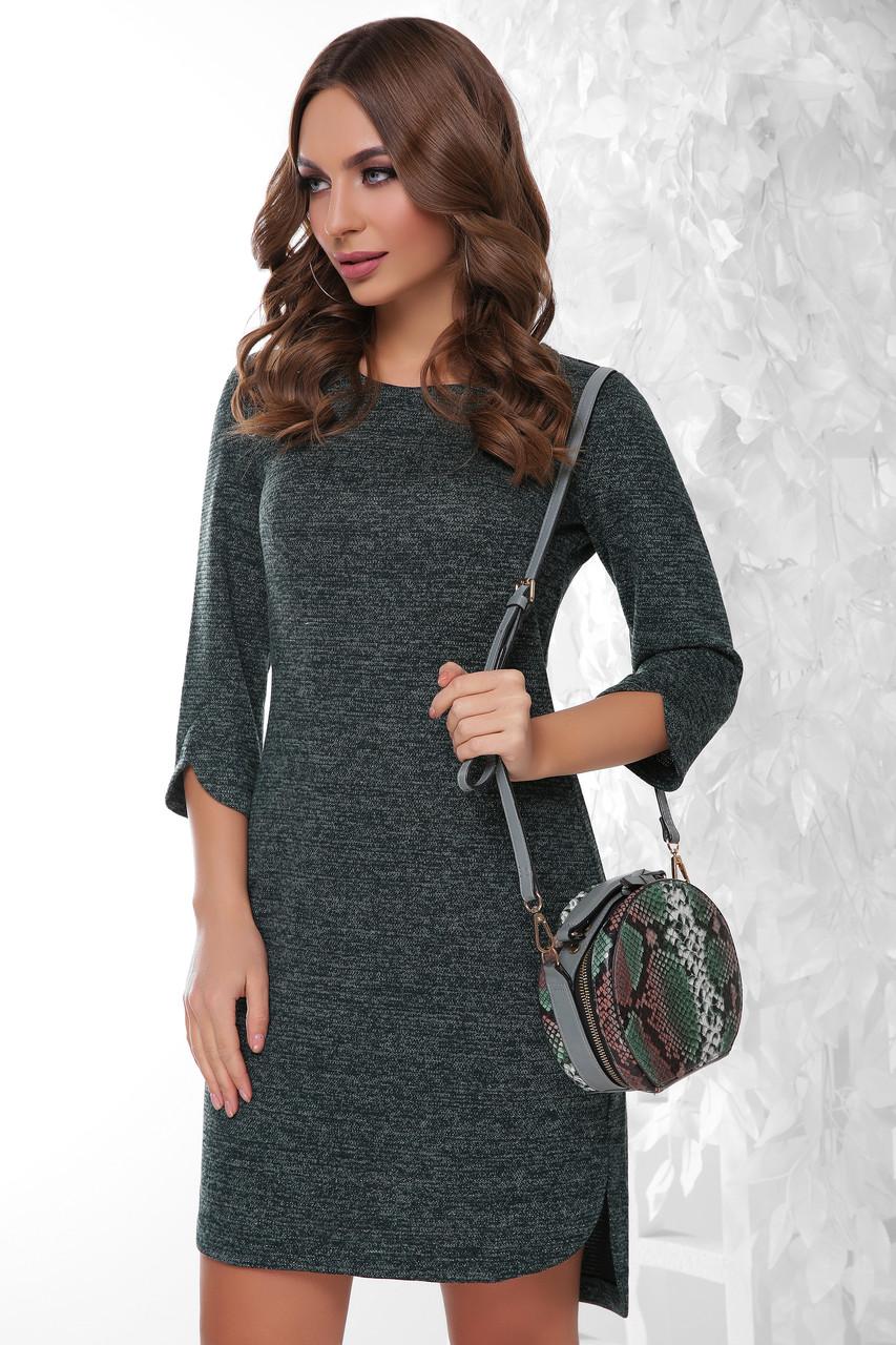 Ангоровое женское платье Брилл-1 с люрексом
