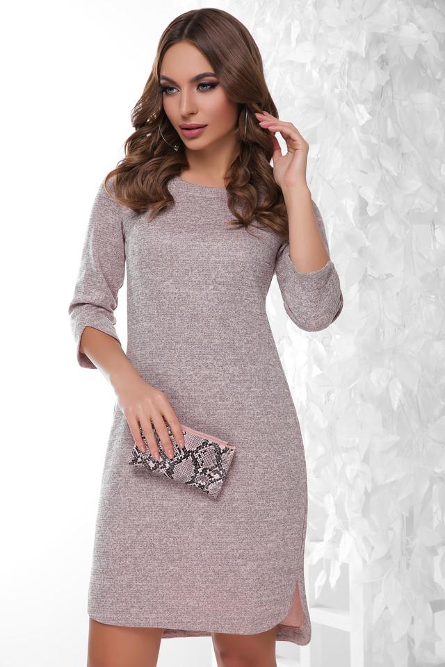 Пудровый цвет Ангорового женского платья Брилл