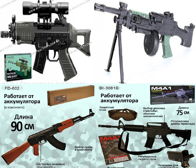 Автоматы, пулеметы