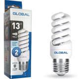 Лампа энергозберегающая 13 Вт Е27 спираль Глобал