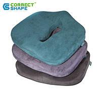 Ортопедическая подушка для сидения - Max Comfort, ТМ Correct Shape . Подушка от геморроя, простатита, подагры, фото 1