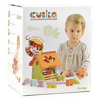 Деревянная игрушка Левеня Cubika Сортер Домик LS-1 11599R, КОД: 123895