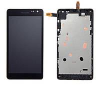 Дисплейный модуль для Microsoft (Nokia) Lumia 535 Dual SIM, с рамкой, #CT2S1973FPC-A1-E, оригинал