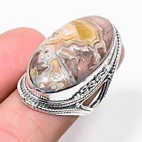 "Яркое кольцо с агатом ""Падишах"" , размер 17.9"